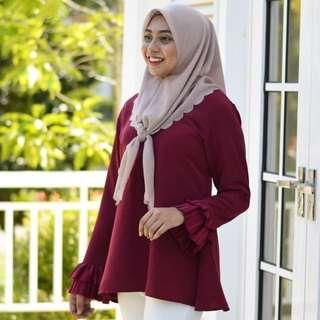 Maiya Pleated Top by Coudre KL