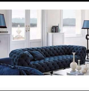 🚚 Mordern Scandivanian Tufted Chesterfield Sofa