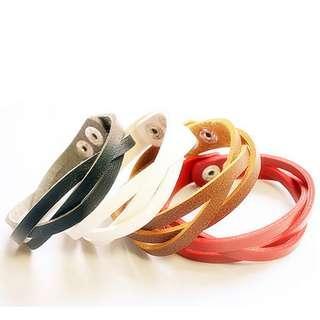 Wristband Leather Bracelet mens fashion 男裝 中性 手繩 皮繩 手鍊 Party ROCK Womens Strand A08#