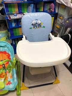 1月19前交收$230 限黎調景嶺取 BB餐椅 80%新 方便可以折埋 6個月以上用 bb用品
