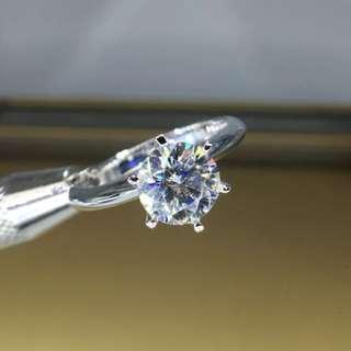 🚚 1ct triple excellent diamond ring