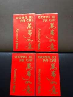 🚚 Clearing Ang Pao Collection: A Pack of 4 Vita/Vitasoy Red Packets