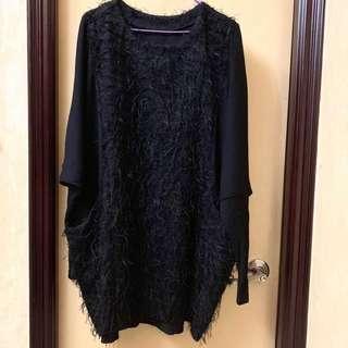 Price down🎉Korea Black Dress 韓國黑色寛鬆裙