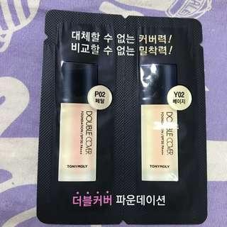 Tonymoly double cover 防曬 foundation