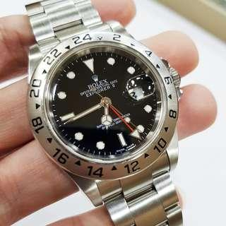 Rolex Explorer 2 16570 with 3186 movement year 2009 Full set
