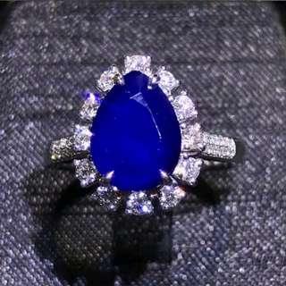 🚚 Royal blue sapphire 3.29ct unheated