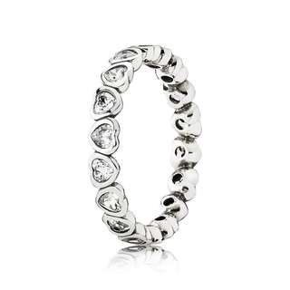 fcae32e77 Pandora Forever More Stackable Ring Cubic Zirconia 92.5 Sterling Silver  Women's Bracelet Available Size 5-