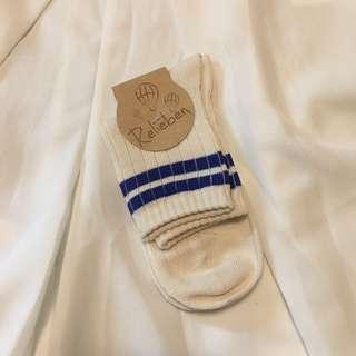 🚚 藍白條紋線條長襪 襪子