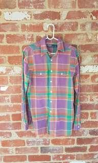 Ralph Lauren Polo Button Up Shirt Multi Colour M FREE POST