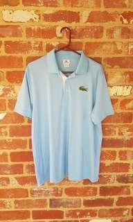 Lacoste Polo Shirt Blue 6/Large Authentic Australian Open
