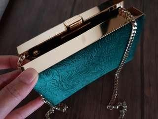Emerald Clutch by Charles&Keith