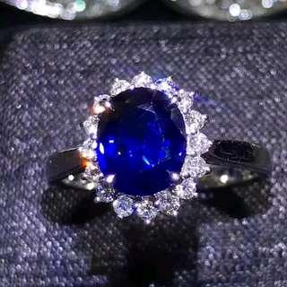 🚚 1.88ct Royal Blue Oval Sapphire