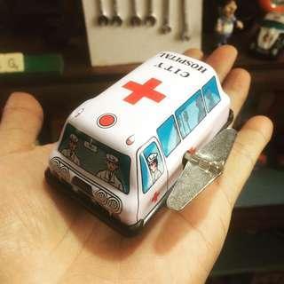 Vintage Tin Toys Ambulance
