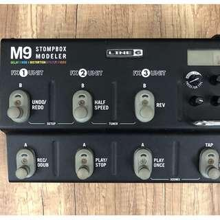 Line 6 M9 Stompbox Modeler Guitar Multi-Effect Pedal (Good Condition)