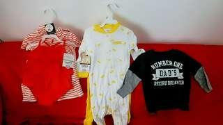 Carter's 美國童裝😙😙8-12個月 全新空運,未剪牌🤗🤗 $100 1套3件,$150 2套 有興趣可pm,有更多選擇