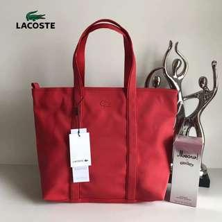 AUTHENTIC LACOSTE TOTE BAG WITH PERFUME