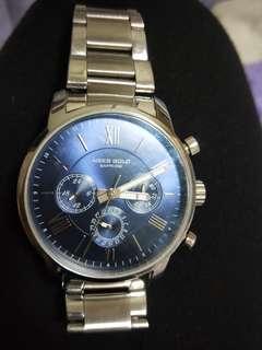 🚚 Urban Aries Gold Sapphire Watch