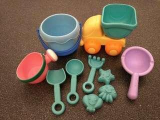 🚚 沙灘玩具組-馬卡龍色