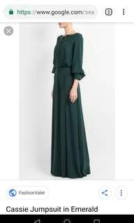 Nurita Harith Casie Jumpsuit In Emerald Green