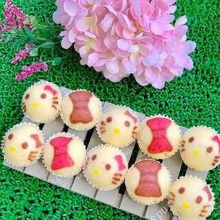 Nutella Blossoms Steam Cakes - Hello Kitty