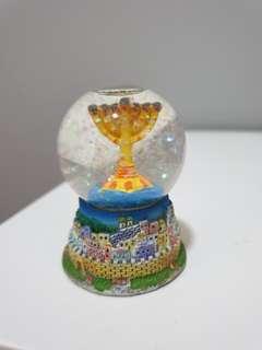 Menorah snow globe
