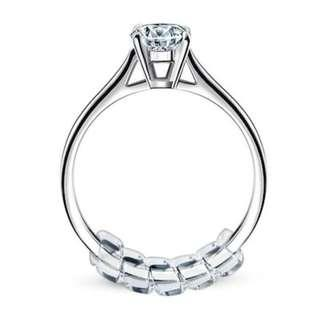 Pack of 14 Ring Size Adjuster Snuggies Ring Size Reducer with Silver Polishing Cloth