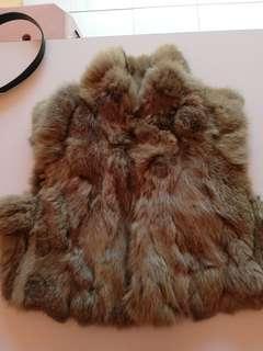 Free pos Authentic rabbit fur coat