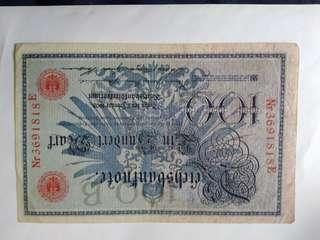 1908 german 100 mark