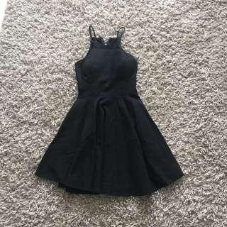 Black Halter Dress (padded)