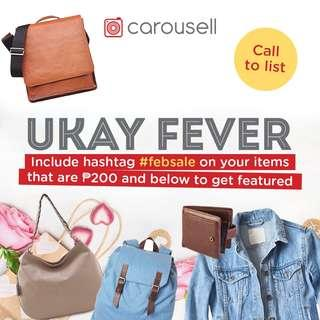 Call to List: Ukay Fever Flash Sale