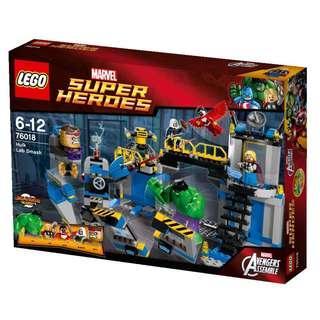 LEGO 76018 Hulk Lab Smash Thor, Falcon, MODOK and Taskmaster