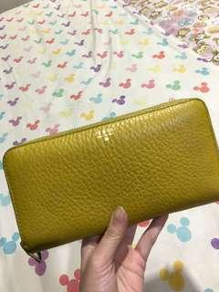 Dompet fossil authentic yellow