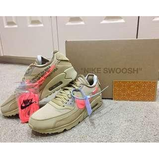 "BRAND NEW Off White x Nike The 10: Air Max 90 ""Desert Ore"" US Size 9.5"