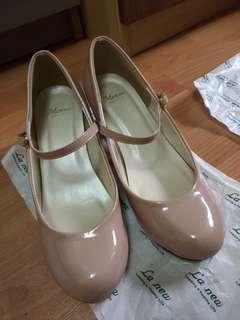 🚚 日本帶回 Menue 微圓頭繫帶跟鞋 24碼 跟高3cm