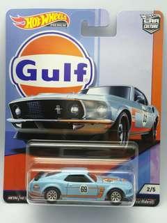Hot Wheels Gulf '69 Ford Mustang Boss 302