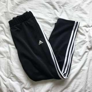 🚚 Adidas three stripe trackpants with snap button detail