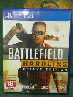 PS4/二手/玩過出售/BATTLEFIELD HARDLINE 英文版$400