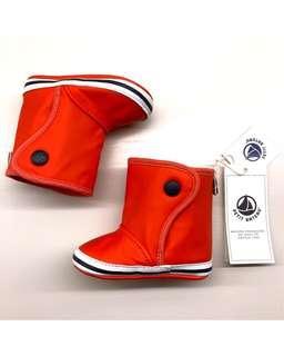 ‼️全新‼️小帆船 PETIT BATEAU 橘紅色寶寶雨鞋 6m (鞋底長11cm)