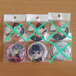 [Instock] Assorted Anime 58mm Round Badges
