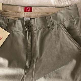 PDI men's light brown long khaki pants