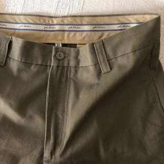 PDI men's dark brown men's long khaki pants