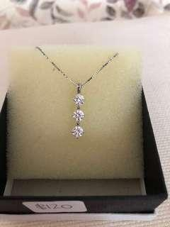 Brand new 3 PCs Zirconia diamond pendant with necklace. Great for gifts or birthdays