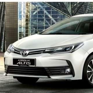2016 Toyota Altis For Rent / Lease