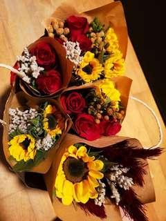 Valentines flower bouquet
