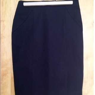 Banana Republic High-Waisted Pencil Skirt (Size: US4)