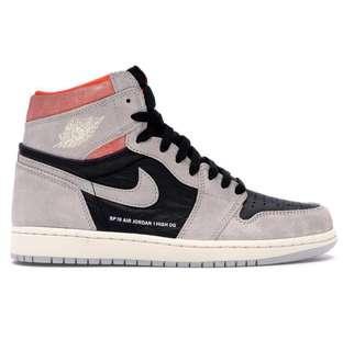 [US 7.5,8,9] Nike Air Jordan 1 Neutral Grey Hyper Crimson