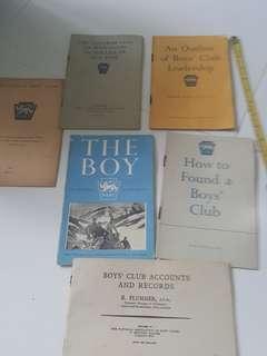 Rare 1949 Colonial Singapore Boy's Club.