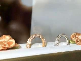 全包石鑽石條戒