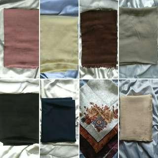Berbagai bahan scarves