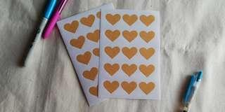 Heart Paper Stickers